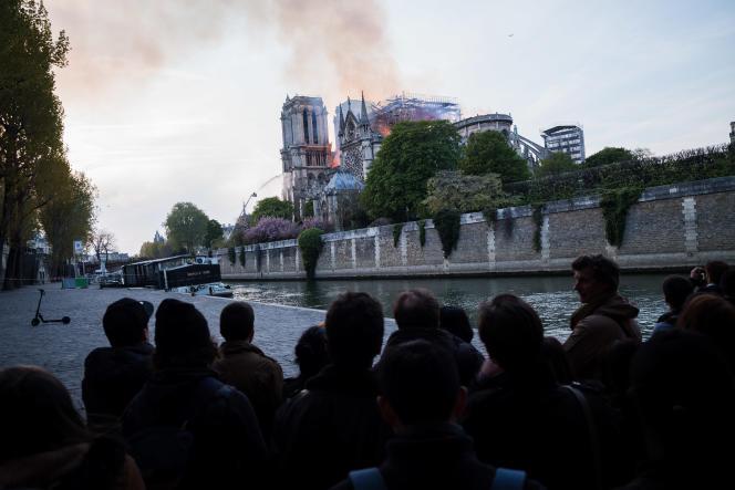 L'incendie à Notre Dame de Paris, le 15 avril.