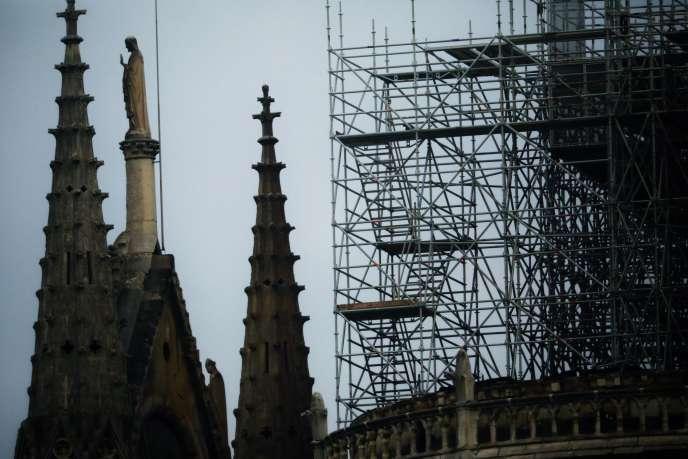 Notre-Dame de Paris, au lendemain de l'incendie, le 16 avril.