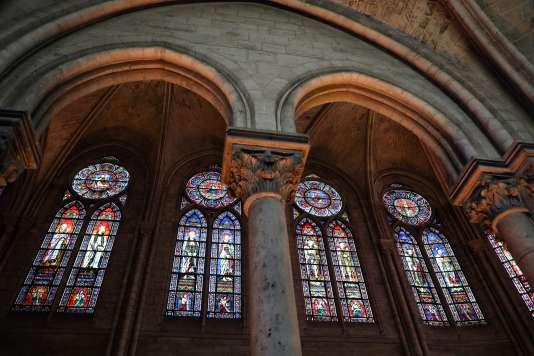 Les vitraux de Notre-Dame de Paris, en 2018.