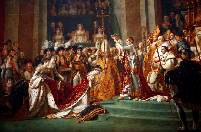 Le « Sacre de Napoléon » (1807), à Notre-Dame, du peintre Jacques-Louis David.