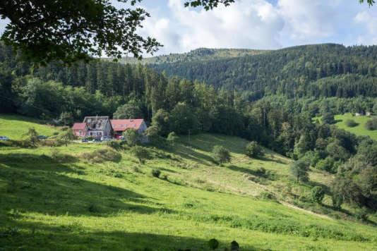 L'auberge Christlesgut, dans la vallée de Munster, en Alsace, offre une vue magnifique sur les Vosges.