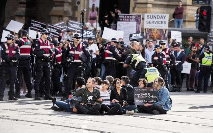 Rassemblement à Melbourne (Australie), le 8 avril.