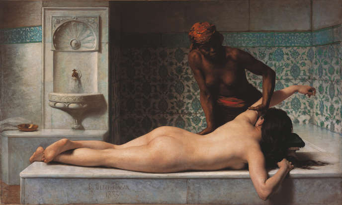 «Le Massage, scène de hammam» (1883), d'Edouard Debat-Ponsan, huile sur toile. Toulouse, Musée des Augustins.
