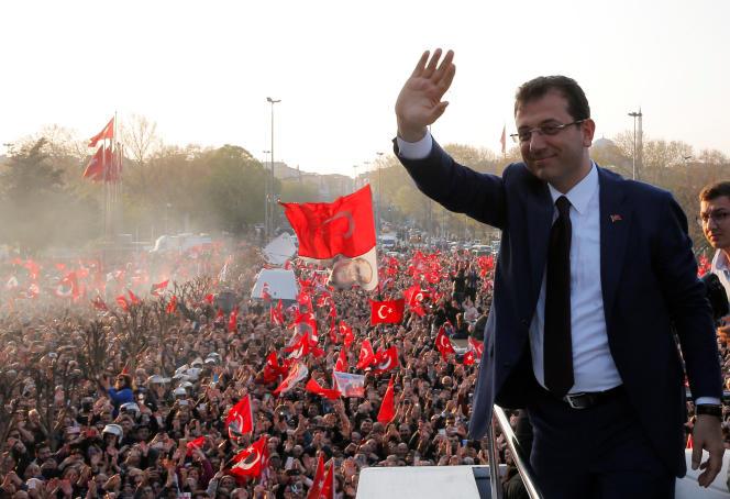 Ekrem Imamoglu, le 17 avril à Istanbul.