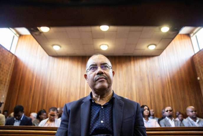 Manuel Chang, ancien ministre des finances du Mozambique devant les magistrats de Kempton en Afrique du Sud, le 8 janvier 2019.