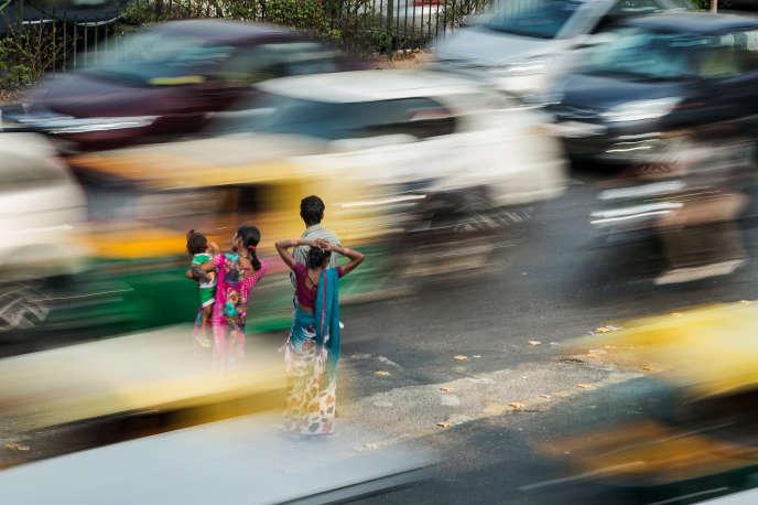 A New Delhi en Inde, en novembre 2015.