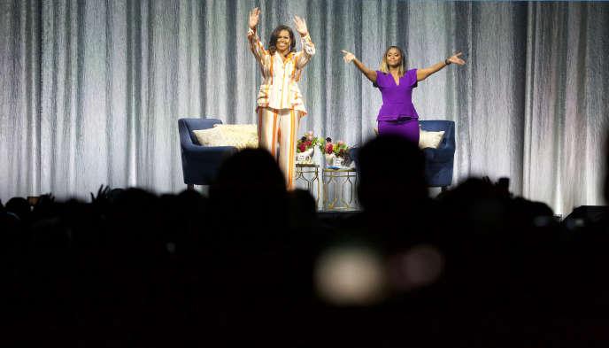 Michelle Obama, ex-première dame des Etats-Unis, le 16 avril à Paris.