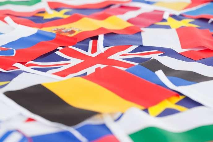 Drapeaux de pays membres de l'Union européenne. Ces derniers sont appelés à élire leurs représentants du 23 au 26 mai.