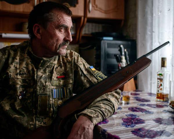 Vladimir Vlasenko, 55 ans, militaire de carrière ukrainien, à Houliaïpole, le 17 mars 2019.