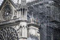 Notre-Dame de Paris, le 16 avril.