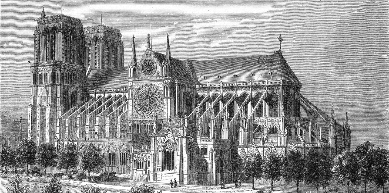Paris, France - Notre-Dame.     Date: circa 1875
