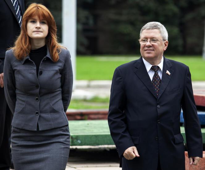 Maria Butina travaillait sous la direction d'Alexandre Torchine, un responsable politique et banquier proche du président russe Vladimir Poutine.