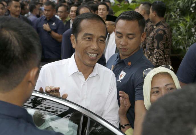 Le président indonésien Joko Widodo à Jakarta, le 18 avril, au lendemain de sa réélection.