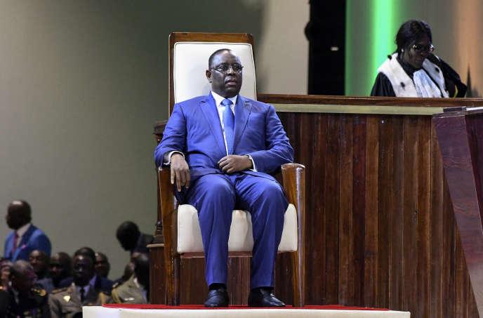 Le président sénégalais Macky Sall le 2 avril 2019 à Diamniadio, le nouveau centre administratif construit en banlieue de Dakar.