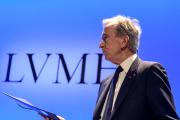 Bernard Arnault, PDG de LVMH, le 29 janvier 2019, à Paris, lors des résultats du groupe.
