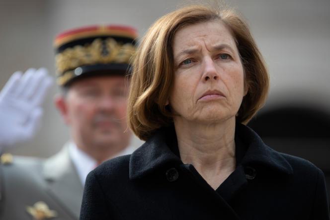La ministre des armées Florence Parly, ici le 8 avril 2019 aux Invalides, à Paris.