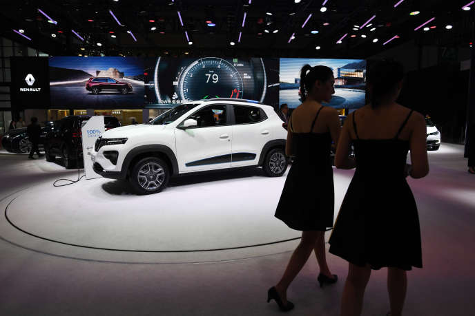 Le modèle électrique K-ZE de Renault au Salon automobile de Shanghaï, le 17 avril.
