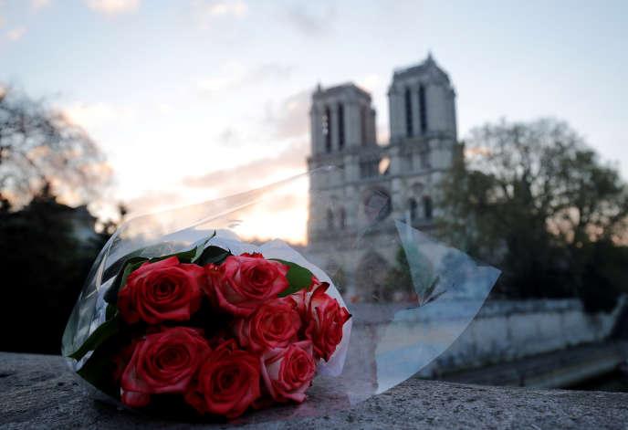 Notre-Dame de Paris au matin du 17 avril 2019, après le terrible incendie qui a ravagé la cathédrale dans la nuit du 15 avril.