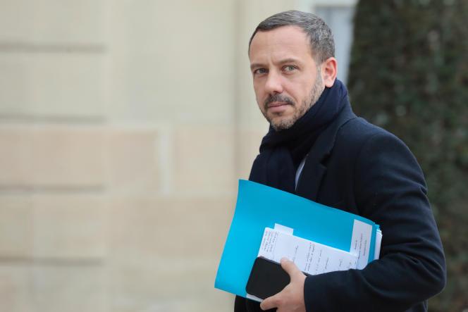 Le secrétaire d'Etat à la protection de l'enfance, Adrien Taquet, le 21février.