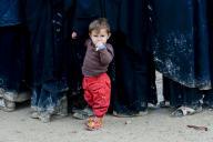Dans le camp de déplacés d'Al-Hol, le 28 mars.