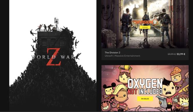 La page d'accueil de l'Epic Games Store met en avant les exclusivités du service concurrent à Steam : c'est aujourd'hui le nerf de la guerre.