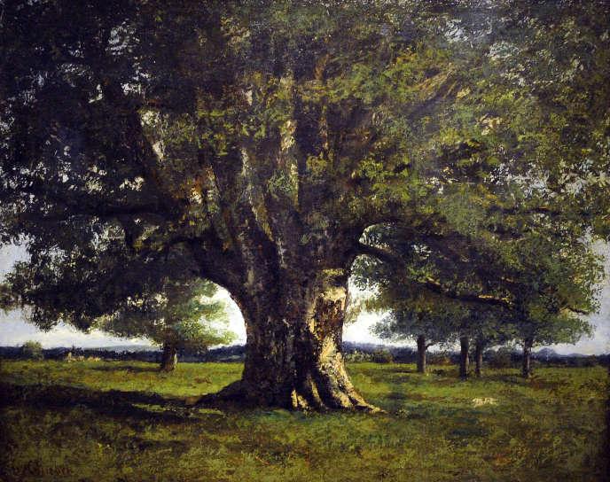 «Le Chêne de Flagey», dit aussi «Chêne de Vercingétorix», de Gustave Courbet, huile sur toile, 89×110 cm, 1864.