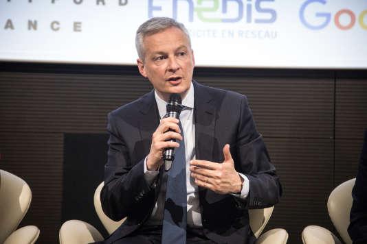 Bruno Le Maire, au Club de l'économie du« Monde», jeudi 18 avril.«Nous avons une monnaie commune, mais nos économies divergent. Cette situation n'est pas tenable. Il faut aller au bout de l'union monétaire», selon ce dernier.