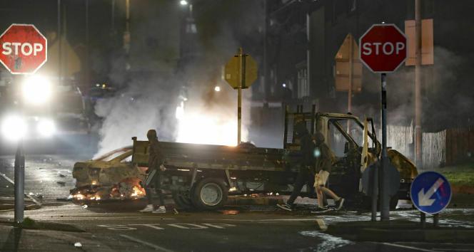 La scène de crime dans le lotissement de Creggan, à Londonderry.