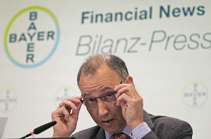 Werner Baumann, PDG de Bayer, en février.