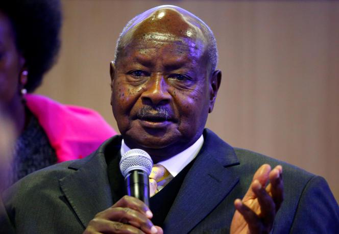 Le président ougandais Yoweri Museveni, au Forum économique de Davos, en Suisse, le 24 janvier 2019.