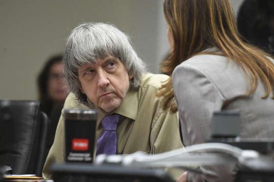 Le 19 avril, au tribunal de Riverside (Californie). David Turpin a été condamné, avec son épouse,notamment pour torture et séquestration de 12 de leurs 13 enfants