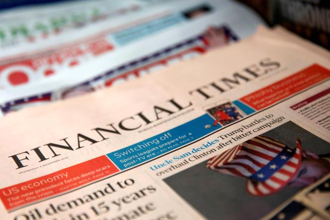 La « Une» du« Financial Times», le 9 novembre 2016.