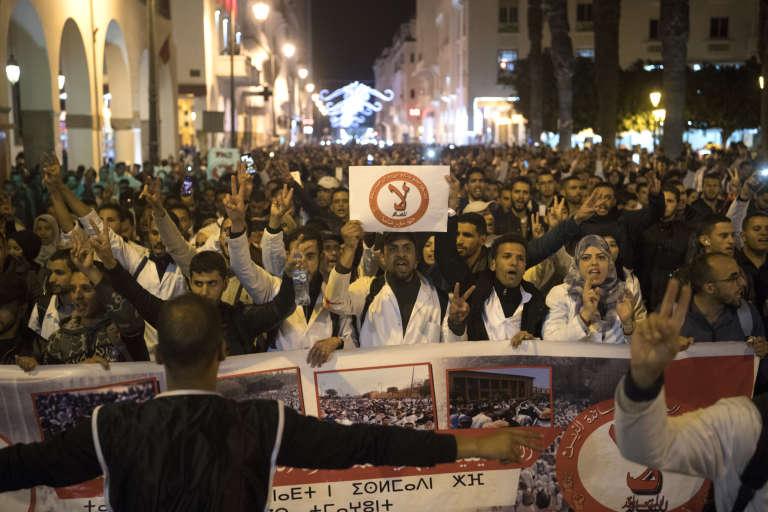 Manifestation le 23 mars à Rabat des jeunes enseignants qui dénoncent la précarité deleur situation depuis le début du mois.
