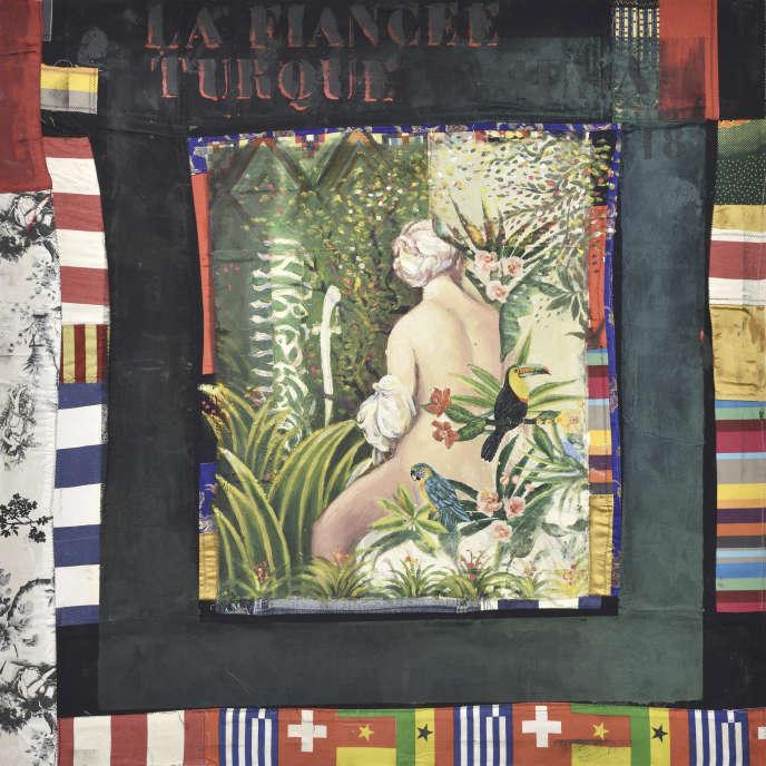 «La Fiancée turque», d'Hassan Musa, huile sur tissus imprimés sur bois.