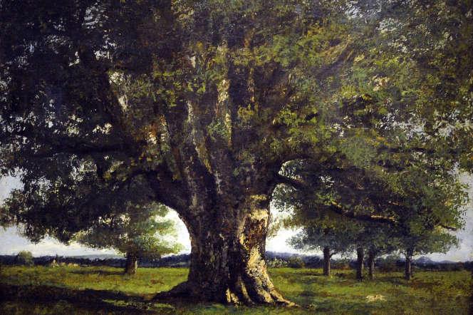 «Le Chêne de Flagey» dit aussi «Chêne de Vercingétorix», de Gustave Courbet, huile sur toile.