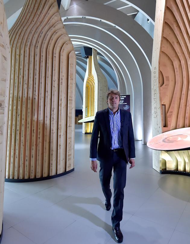 En mai 2016, à Bordeaux, Philippe Massol àla Cité du vin dont il est le directeur.