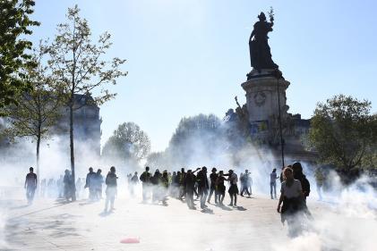 Place de la République, à Paris, samedi 20 avril.
