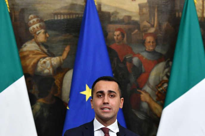 Luigi Di Maio, ministre du développement économique et chef du Mouvement 5 étoiles, à Rome, en janvier.
