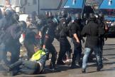A Paris lors d'une manifestation des« gilets jaunes», le 20 avril.