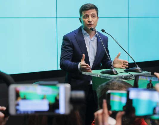 Le président élu ukrainien, Volodymyr Zelensky, le 21 avril à Kiev.