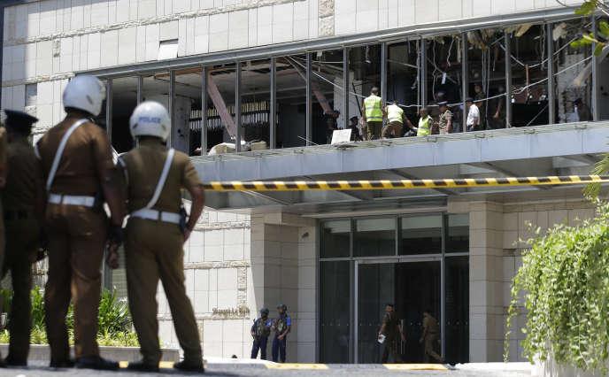 L'étage de l'hôtelShangri-La après l'explosion qui l'a détruit.