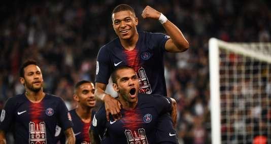 Les Parisiens contre Monaco, le 21 avril 2019.
