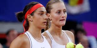 Caroline Garcia et Kristina Mladenovic, le 21 avril à Rouen.