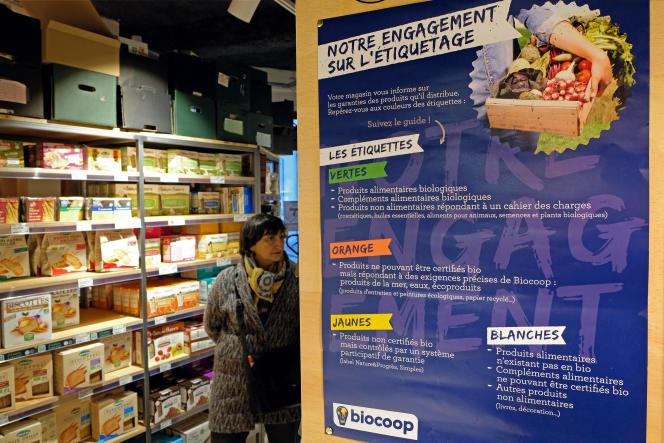 Un magasin Biocoop, premier réseau de magasins bio en France, en 2016.