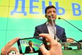 Le nouveau président ukrainien, Volodymyr Zelensky, à Kiev, le 21 avril.