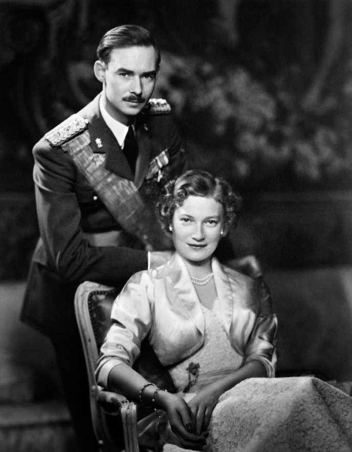 Le grand-duc Jean de Luxembourg et sa femme Josephine-Charlotte de Belgique, en janvier 1955.