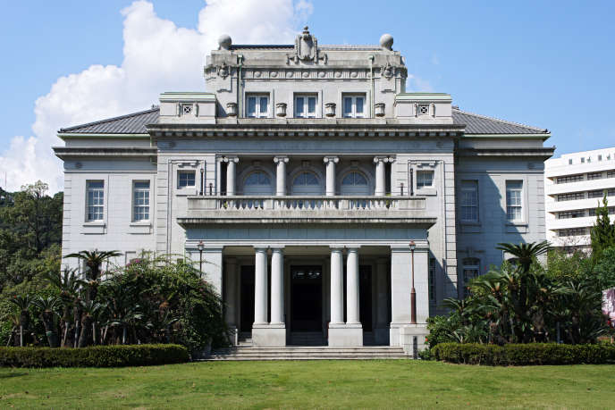 Un bâtiment de style néoclassique, construit en 1925 à Kagoshima,au Japon.