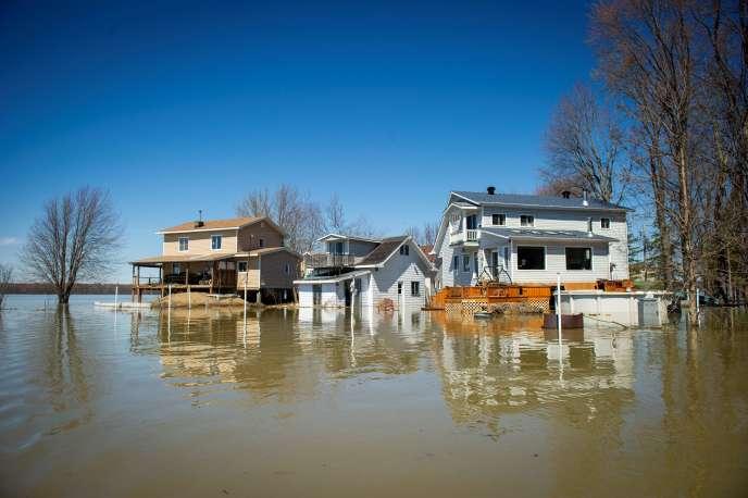 La ville de Rigaud, à l'ouest de Montréal, a été inondée le 22 avril.