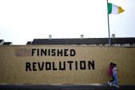 Dans le quartier de Creggan à Londonderry, en Irlande du Nord, le 29 avril.