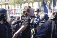 Gaspard Glanz, lors de son arrestation, le 20 avril, en marge d'une manifestation des« gilets jaunes»